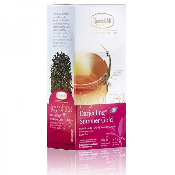 joy of tea: Darjeeling Summer Gold, BIO, 15x2,5g = 37,5g