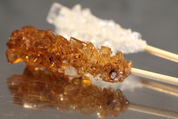 Zucker: 1 Kandis Stick, braun (einzeln verpackt in Cellophan)