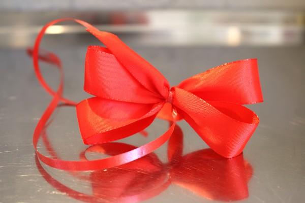 Geschenkschleife, rot