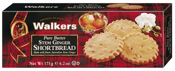 Stem Ginger Shortbread, 175g (Schottisches Buttergebäck mit Ingwer)