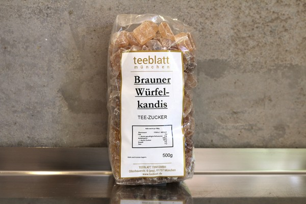 Zucker: Brauner Würfelkandis, 500g