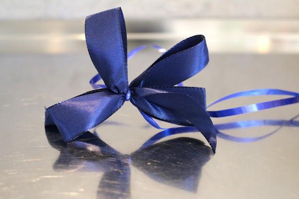 Geschenkschleife, blau